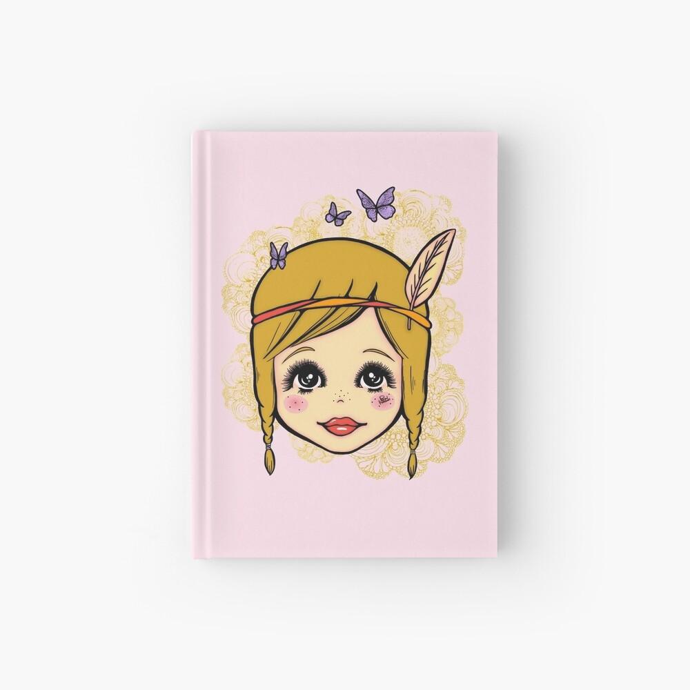 Boho Girl in the Spring Hardcover Journal