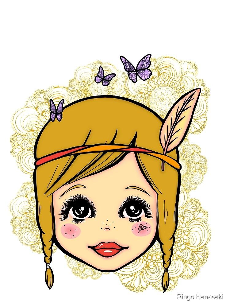 Boho Girl in the Spring by RingoHanasaki
