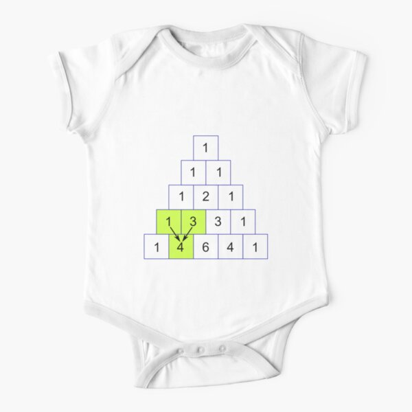 Mathematics, Pascal's Triangle #PascalsTriangle Number Pattern #NumberPattern Short Sleeve Baby One-Piece