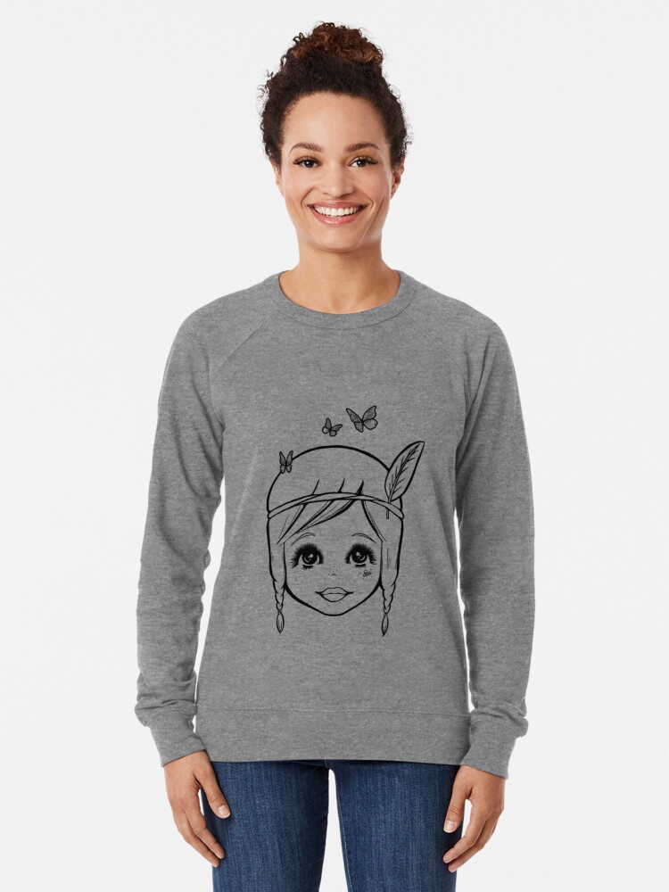 Alternate view of Boho Girl in the Spring Lightweight Sweatshirt