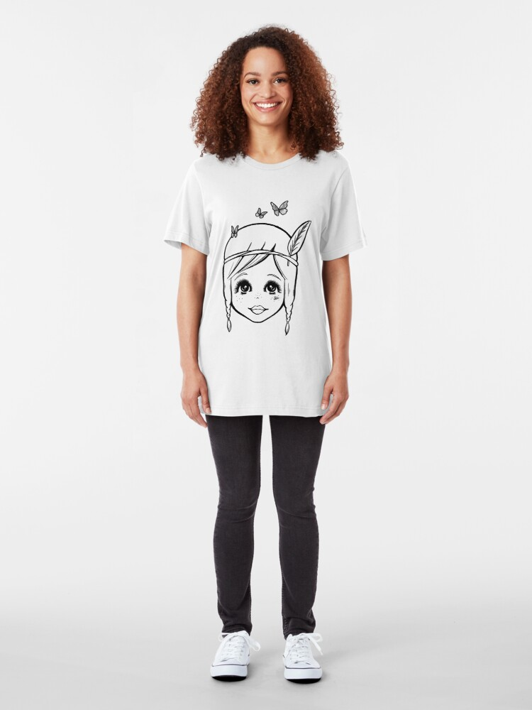 Alternate view of Boho Girl in the Spring Slim Fit T-Shirt