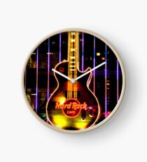 Hard Rock Cafe Guitar Las Vegas America Clock