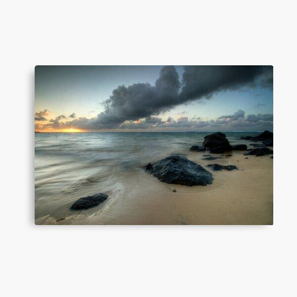 Rarotonga's Smoking Sun Canvas Print