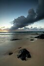 Rarotonga's Smoking Sunrise by Michael Treloar