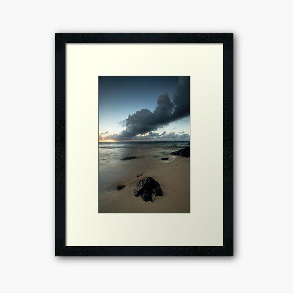 Rarotonga's Smoking Sunrise Framed Art Print