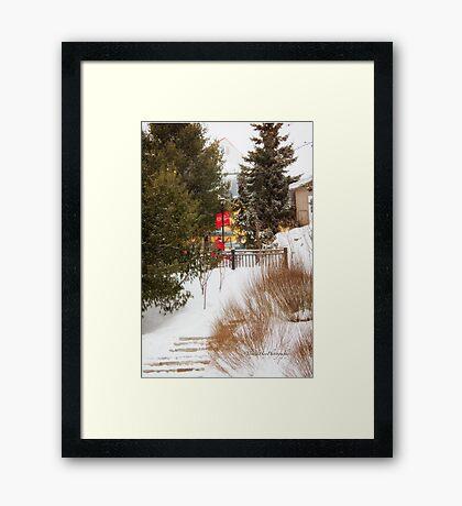 Tremblant Resort in Winter Framed Print
