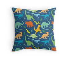 Colorful Dinosaur Pattern  Throw Pillow