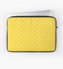 Yellow & White Polka Dots Laptop Sleeve