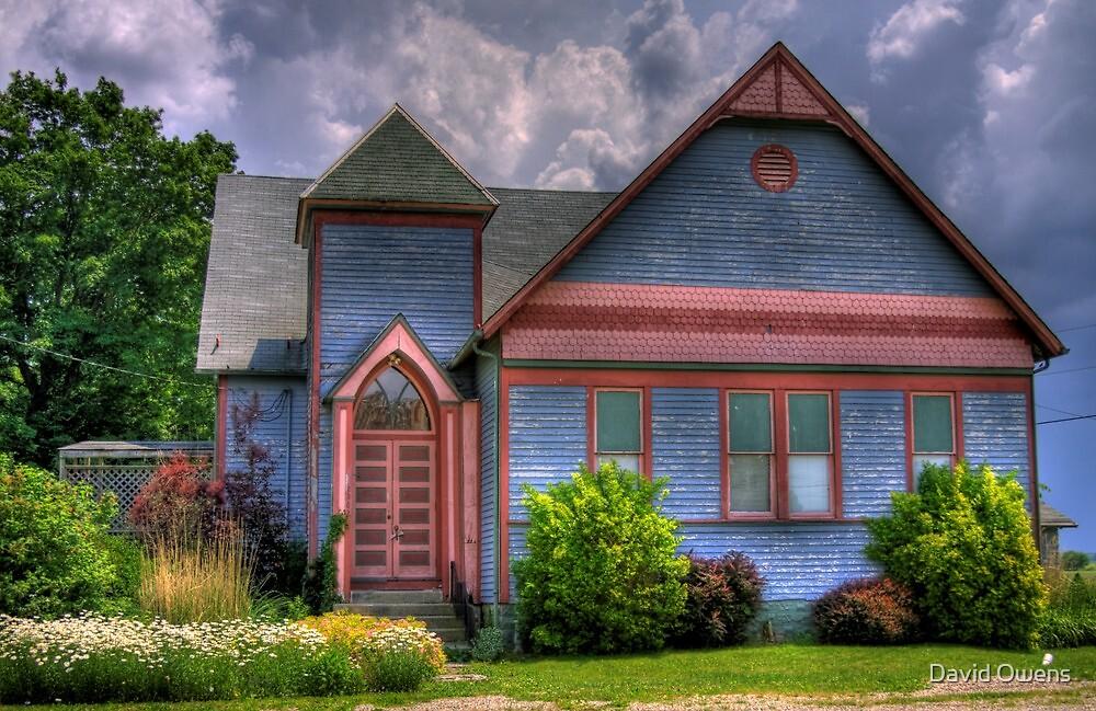 Pink Trim Home/Church by David Owens