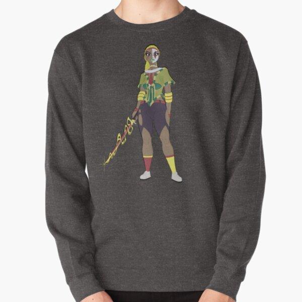 Sasha Rae Glitch Out Design Pullover Sweatshirt