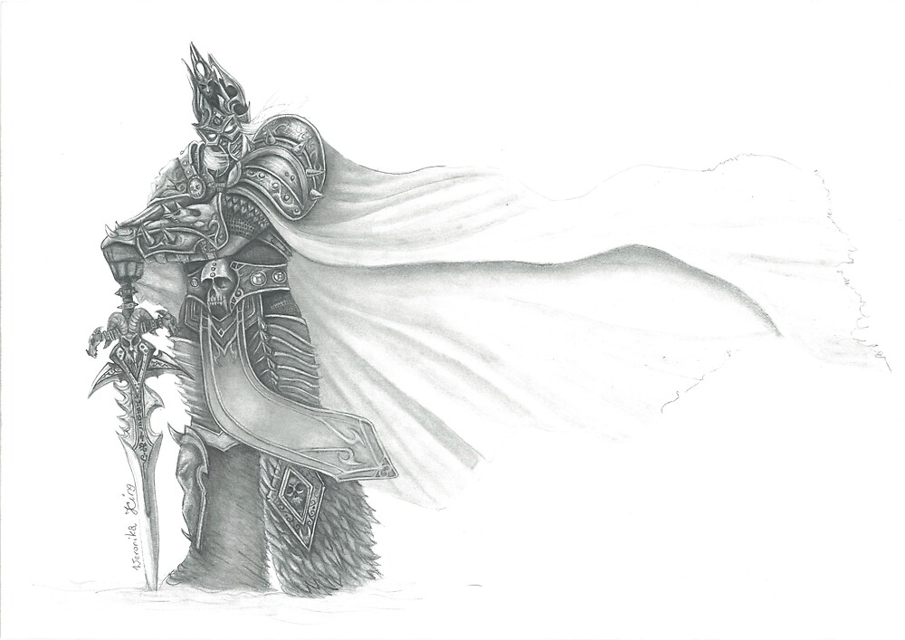 Arthas Menethil The Lich King My Fanart Of Warcraft Hero