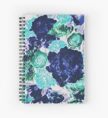 Bouquet in Blue - Floral Art - Flower Lovers Gift Spiral Notebook