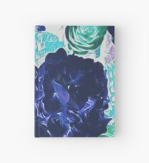 Bouquet in Blue - Floral Art - Flower Lovers Gift Hardcover Journal