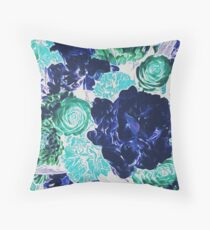Bouquet in Blue - Floral Art - Flower Lovers Gift Throw Pillow