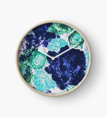 Bouquet in Blue - Floral Art - Flower Lovers Gift Clock