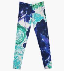 Bouquet in Blue - Floral Art - Flower Lovers Gift Leggings