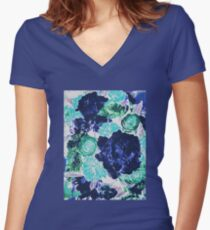 Bouquet in Blue - Floral Art - Flower Lovers Gift Women's Fitted V-Neck T-Shirt