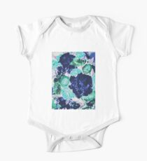 Bouquet in Blue - Floral Art - Flower Lovers Gift One Piece - Short Sleeve