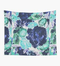 Bouquet in Blue - Floral Art - Flower Lovers Gift Wall Tapestry