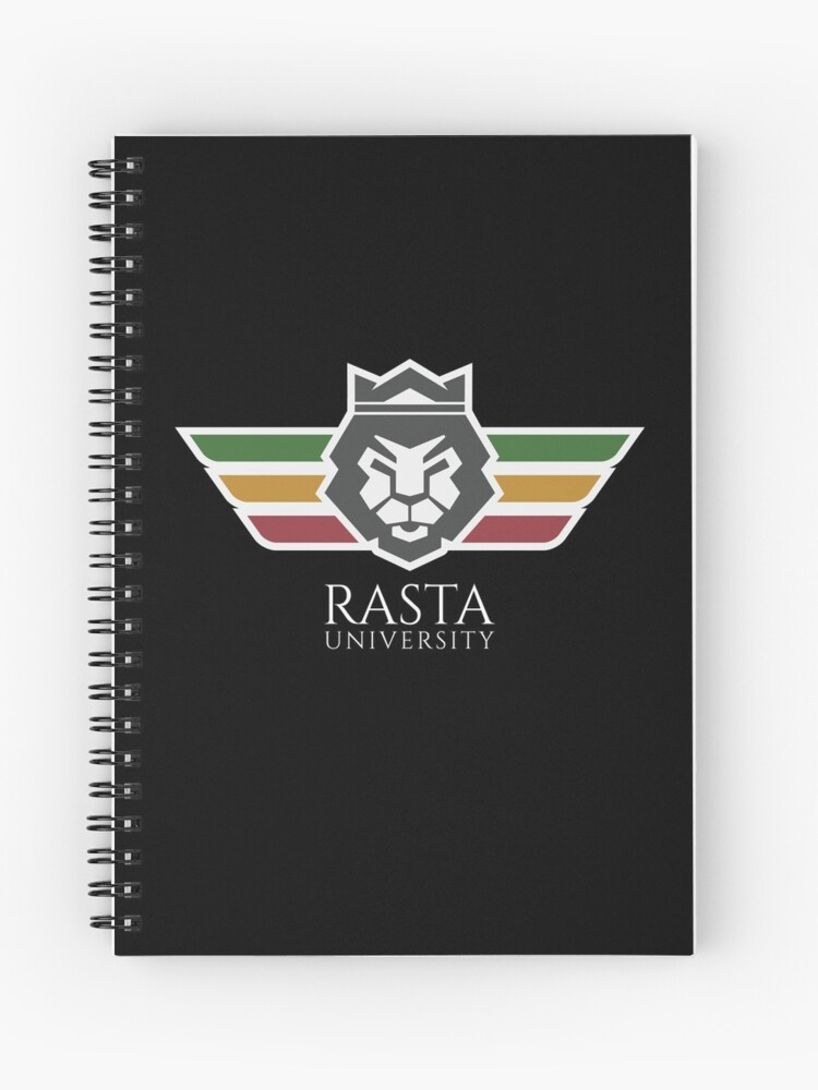rasta university lion logo spiral notebook by rastauniversity redbubble rasta university lion logo spiral notebook by rastauniversity redbubble