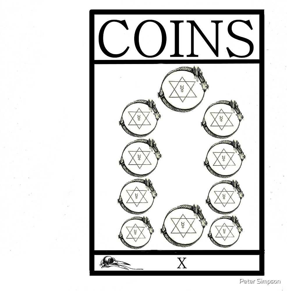 10 of Coins by Peter Simpson
