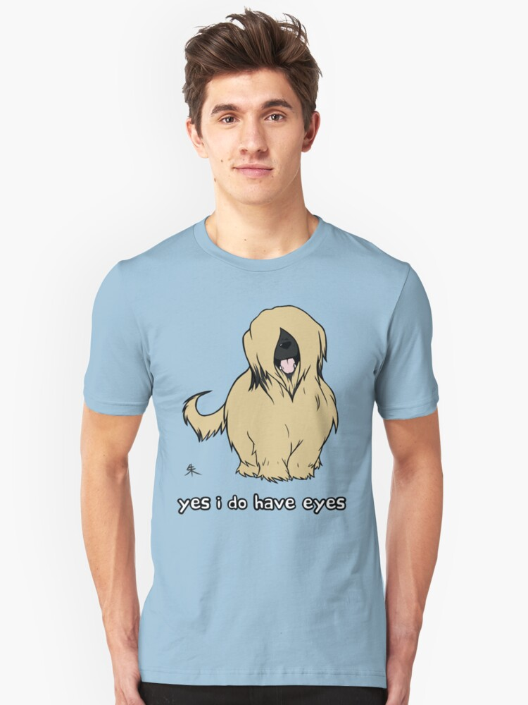 Briard - Yes, I have eyes. w/ TEXT Unisex T-Shirt Front