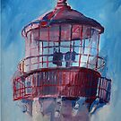 Lighthouse At West Cape May by schiabor