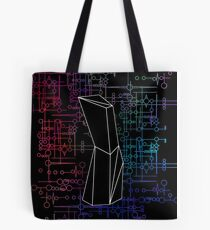 The Obelisk / The Diviner (Black and Multi-Coloured on Black) Tote Bag