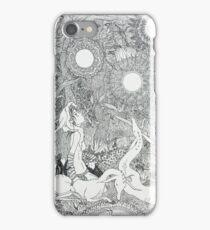 Original Ink Drawing (Midnight Musings) iPhone Case/Skin