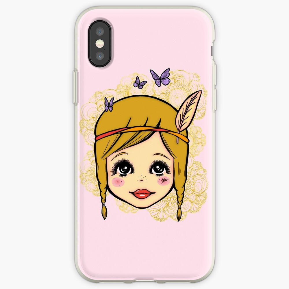 Boho Girl in the Spring iPhone Case & Cover