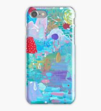 Original Acrylic Painting (Happy Magical Mushroom Forest) iPhone Case/Skin