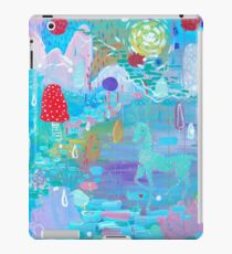 Original Acrylic Painting (Happy Magical Mushroom Forest) iPad Case/Skin
