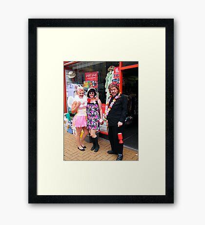 Fancy Dressers Framed Print