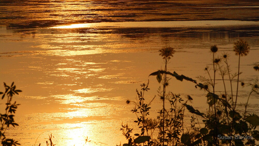 Sunset on the Water by Susan Blevins