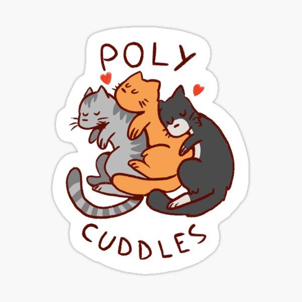 Poly Cuddles Sticker