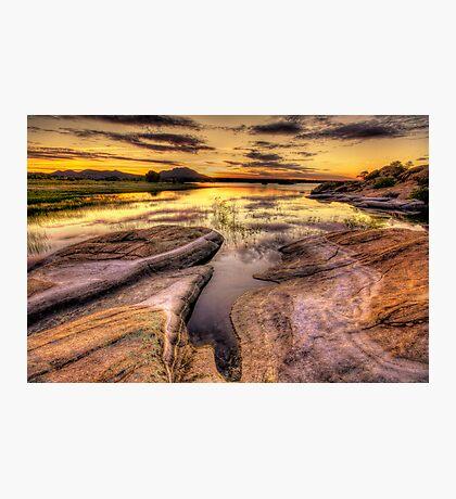 Reaching Rocks Wide Photographic Print