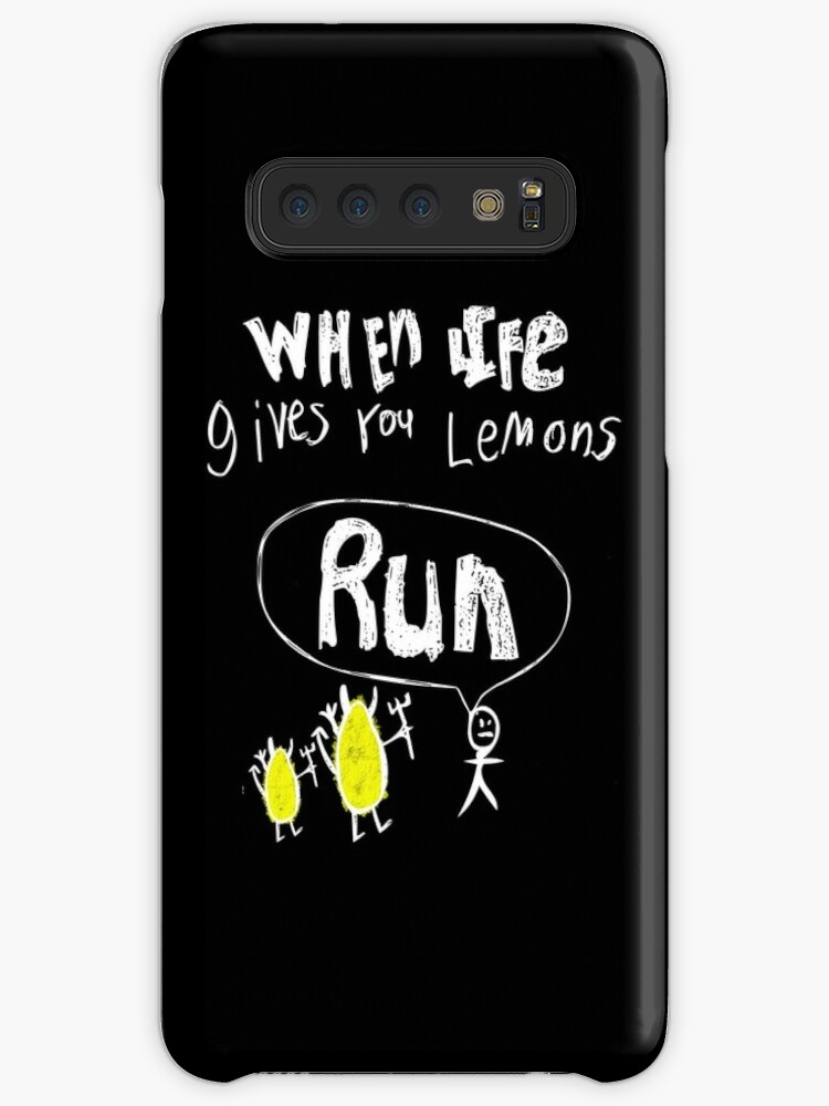 stick man when life gives you lemons run funny t shirt case skin for samsung galaxy by cleverdesignssk redbubble stick man when life gives you lemons run funny t shirt case skin for samsung galaxy by cleverdesignssk redbubble