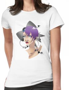 Gothic Style Womens Fitted T-Shirt