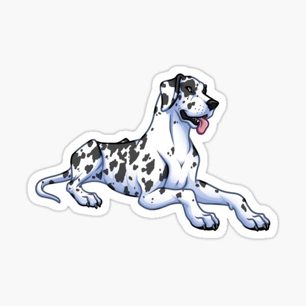 Great Dane - Harlequin - Floppy Ears Sticker