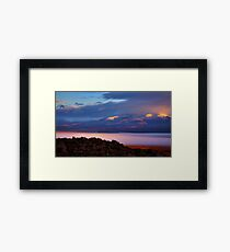 Palomino Valley Glow Fog Framed Print