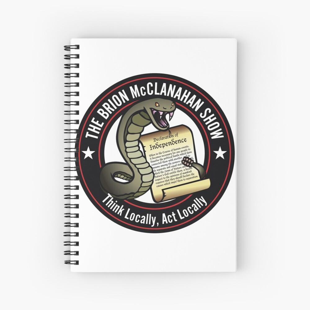 The Brion McClanahan Show Spiral Notebook