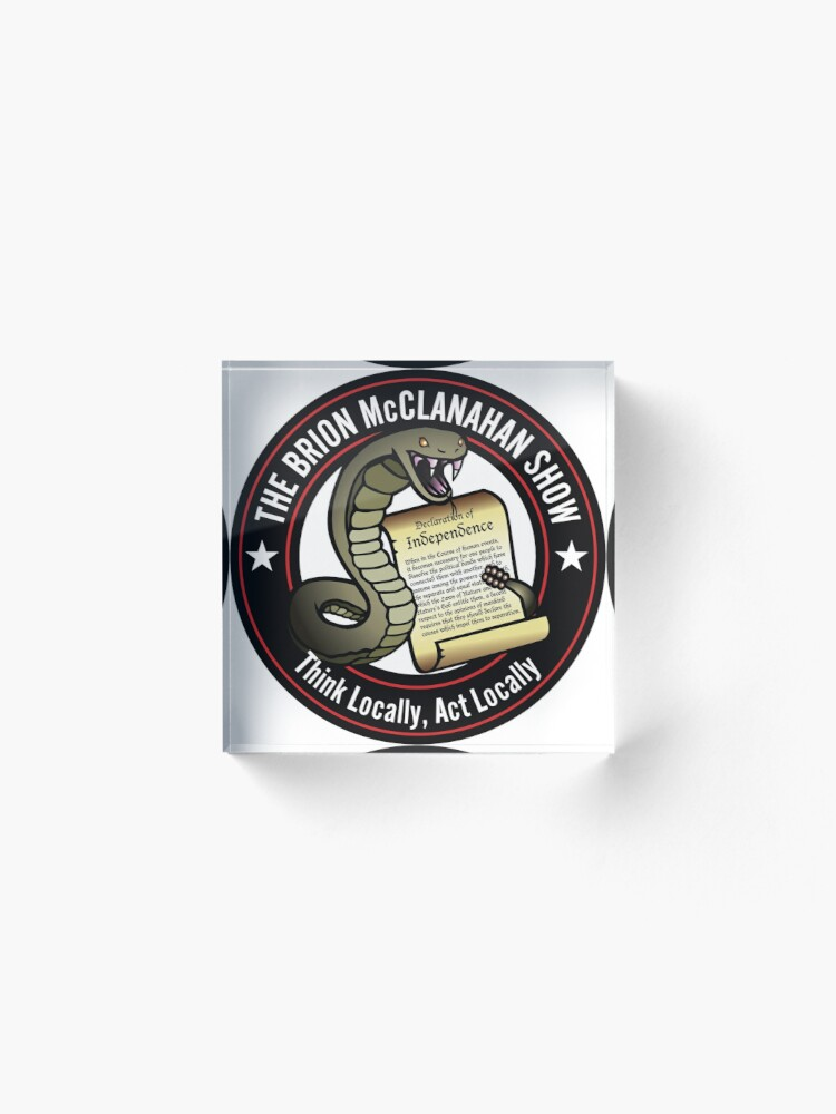Alternate view of The Brion McClanahan Show Acrylic Block