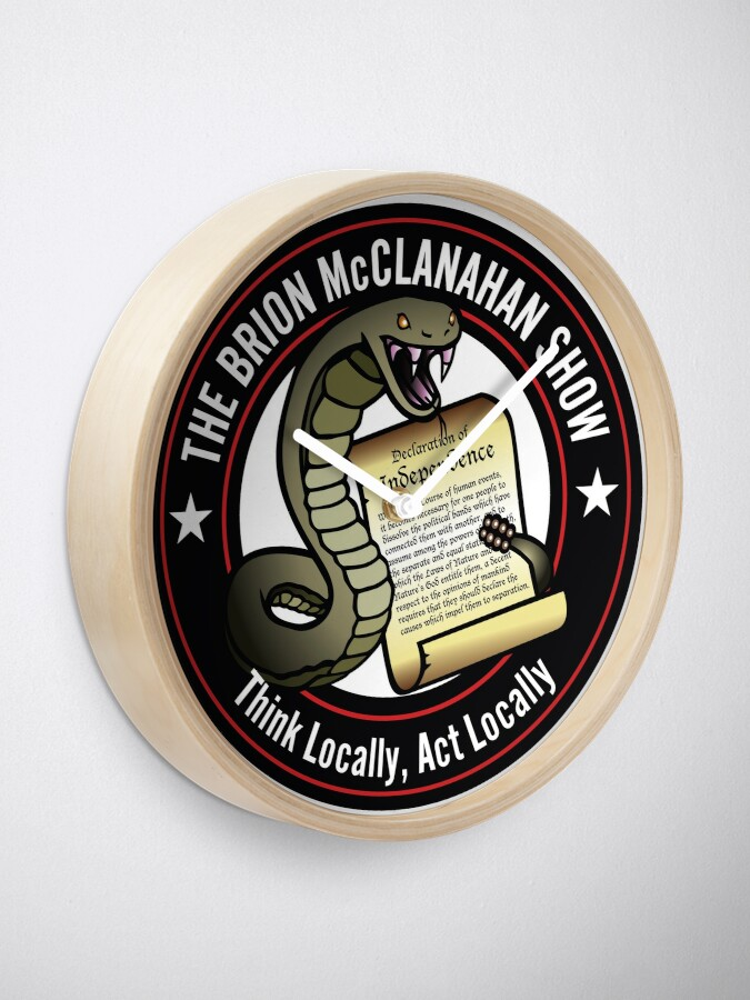 Alternate view of The Brion McClanahan Show Clock