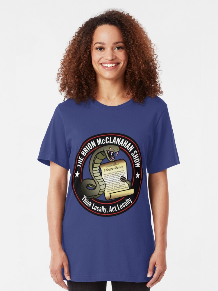Alternate view of The Brion McClanahan Show Slim Fit T-Shirt