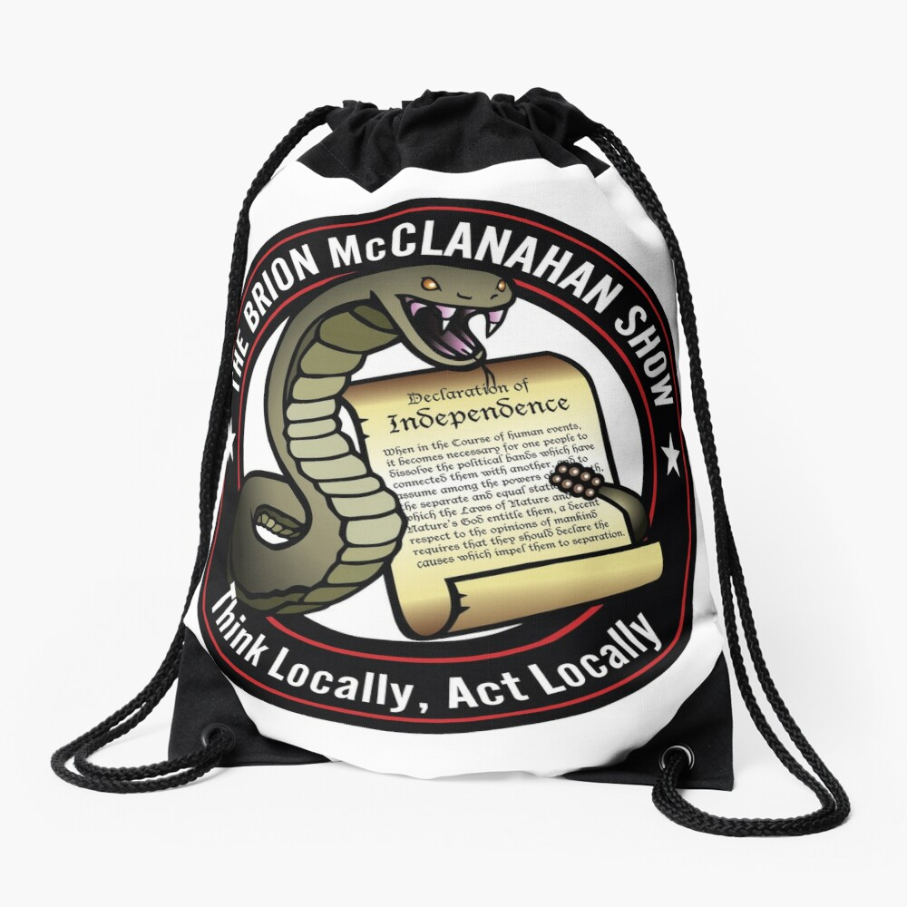 The Brion McClanahan Show Drawstring Bag
