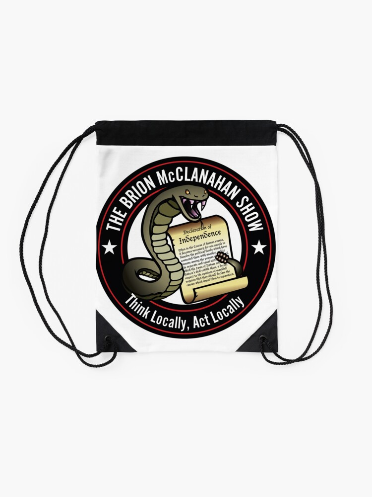 Alternate view of The Brion McClanahan Show Drawstring Bag
