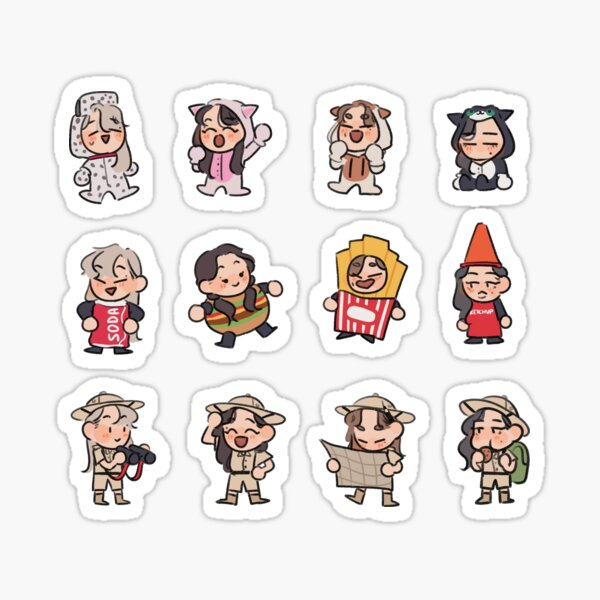 MMM Waggy Costumes Sticker