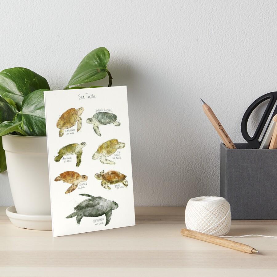 Sea Turtles Art Board Print