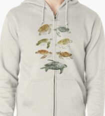 Sea Turtles Zipped Hoodie