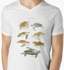 Meeresschildkröten T-Shirt mit V-Ausschnitt für Männer